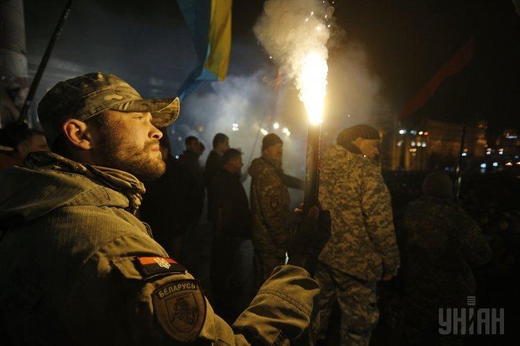 Вече в поддержку торговой блокады в Донбассе