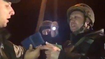 Конфликт с участием нардепа Владимира Парасюка на блокпосту близ Краматорска. Видео