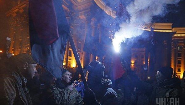 Митинг в поддержку блокады в Донбассе. Архивное фото