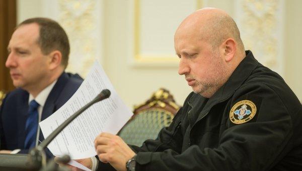 Александр Турчинов на заседании СНБО