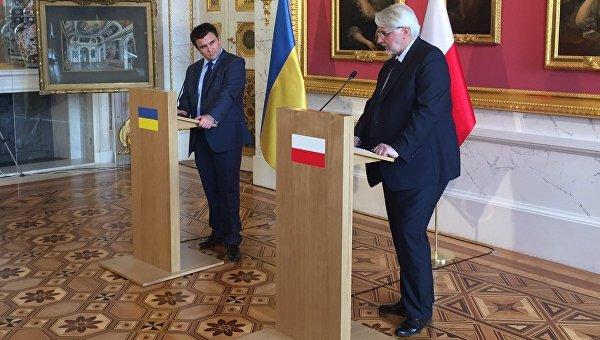Климкин иВащиковский возобновили работу Украинско-польского форума