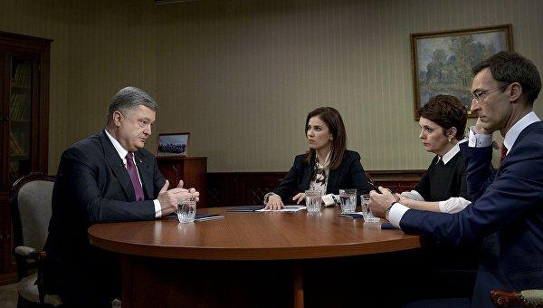Интервью Петра Порошенко украинским телеканалам