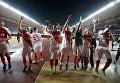 Футболисты Монако после матча 1/8 финала Лиги чемпионов против Манчестер Сити