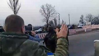 Конфликт на блокпосту в Константиновке Донецкой области. Видео
