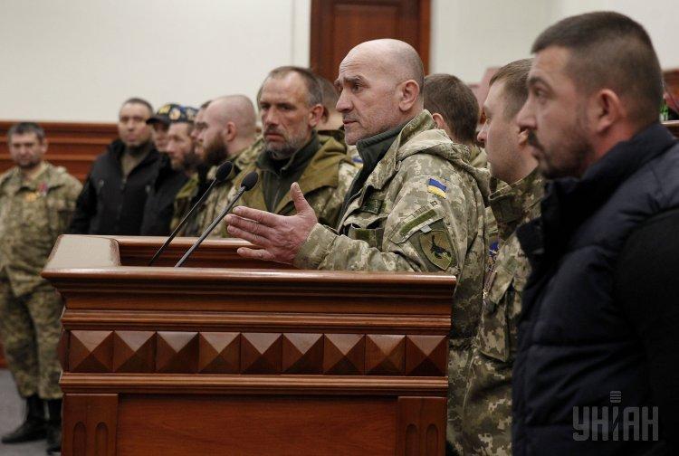 Добровольцы АТО на сессии Киевсовета