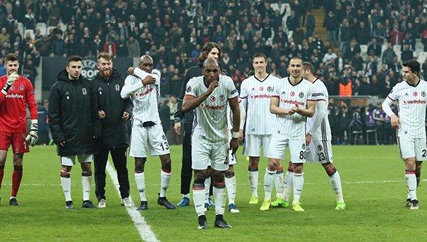 «Бешикташ» разгромил «Олимпиакос» ивышел в ¼ финала Лиги Европы