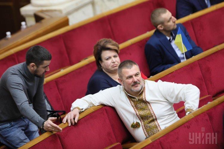 Народный депутат Юрий Береза во время заседания Верховной Рады Украины