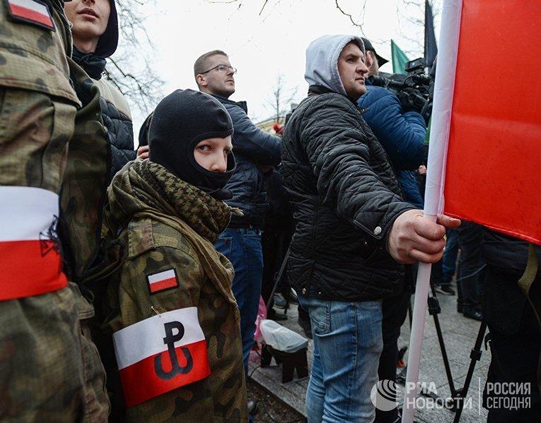 ВПольше прошёл митинг против приезжих с государства Украины