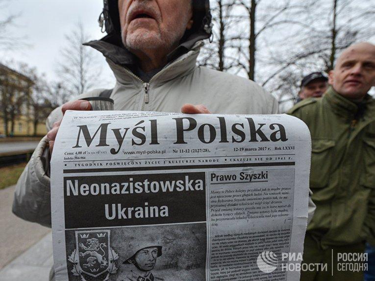 ВПольше праворадикалы протестовали против «украинизации рынка труда»
