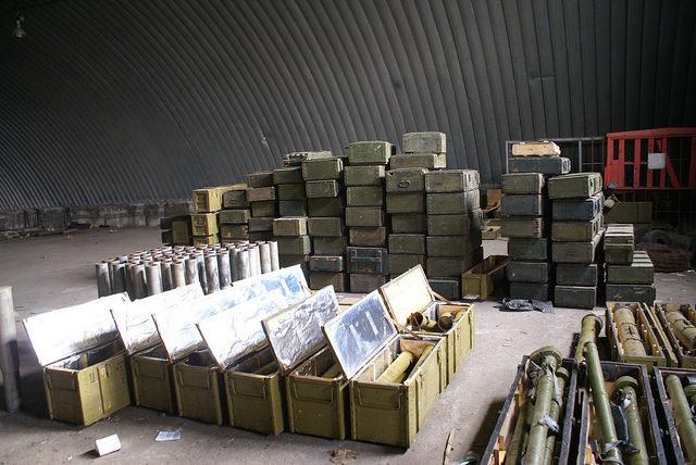 СБУ обнаружила огромный тайник с оружием в Запорожской области