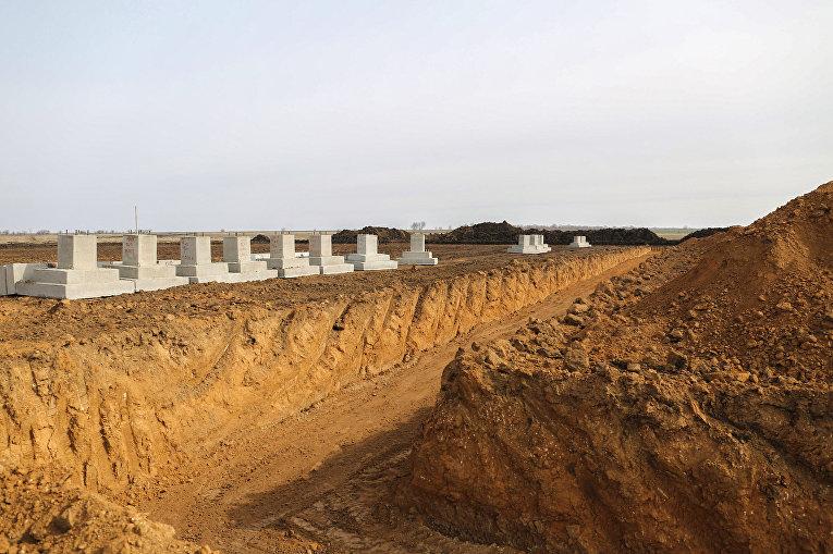 Строительство военного городка на полигоне Широкий Лан