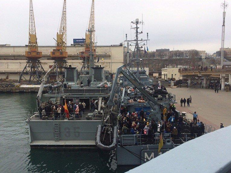 Экскурсия на корабли НАТО в Одессе