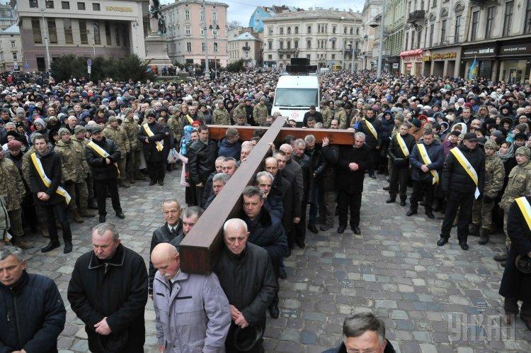 Крестный ход греко-католиков во Львове.