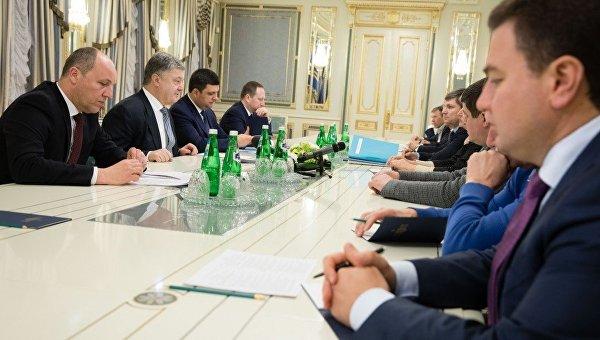Встреча Петра Порошенко с главами парламентский фракций