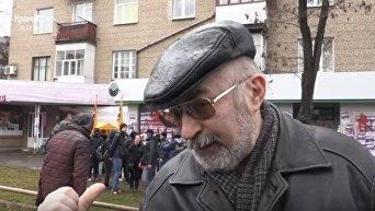 Мнение граждан по поводу блокирования Сбербанка в Краматорске. Видео