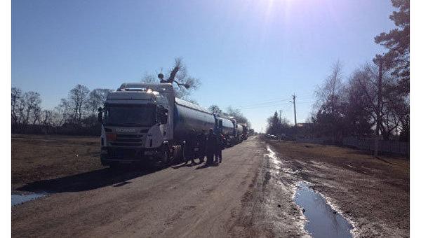 Жители села Мехедовка Лохвицкого района Полтавской области перекрыли движение транспорта