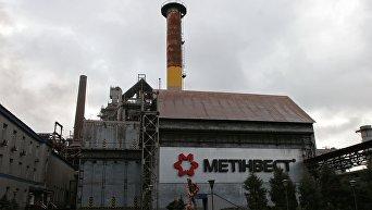 Доменный цех Енакиевского металлургического завода в городе Енакиево Донецкой области. Архивное фото