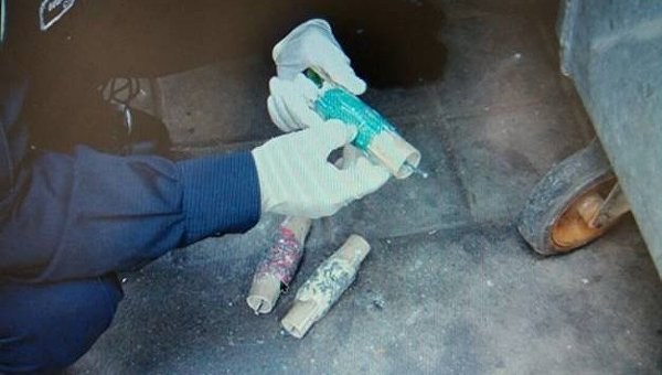 Вмусорном баке вКиеве отыскали самодельное взрывное устройство