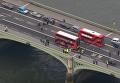 Последствия теракта на мосту в Лондоне: вид с воздуха. Видео