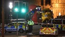 Теракт в Лондоне. Полиция на месте происшествия