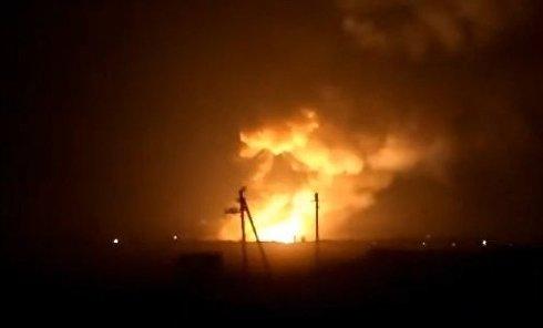 Пожар и взрывы на оружейном складе в Балаклее (Харьковская область)