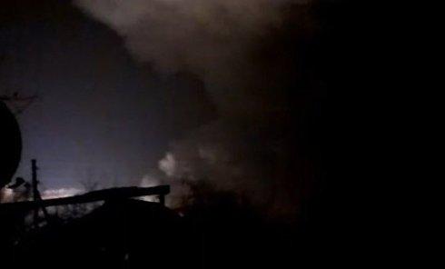 Пожар и взрывы на оружейном складе в Балаклее. Видео