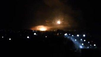 Взрыв и пожар на складах боеприпасов в Балаклее. Видео