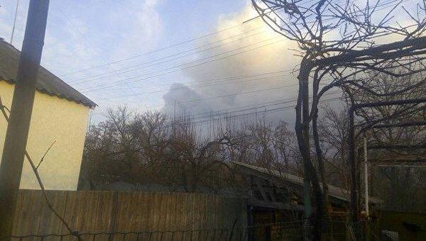 Пожар на складе боеприпасов в Балаклее