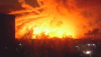 Взрыв на складе арсенала в Харьковской области