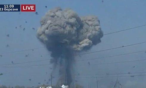 Кадры мощного взрыва в Балаклее