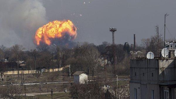 Взрыв боеприпасов на военном складе Минобороны в Балаклее