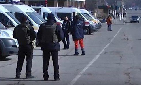 Полиция в Балаклее. Видео