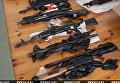 Оружие, изъятое у задержанных КГБ Белоруссии боевиков