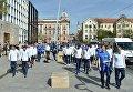 Сборная Украины прогулялась по Загребу перед матчем с Хорватией