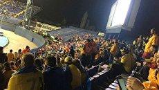 Матч Украина - Хорватия. Сектор украинских болельщиков