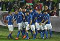 Сборная команда Италии по футболу в матче против сборной Албании