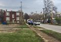 На месте стрельбы в американском городе Сент-Луис, штат Миссури, США