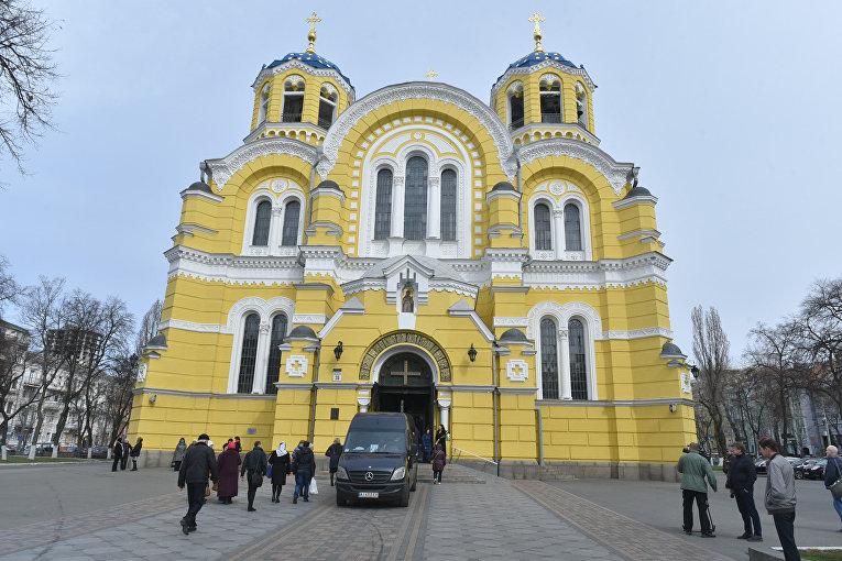Владимирский собор в Киеве. Отпевание Дениса Вороненкова