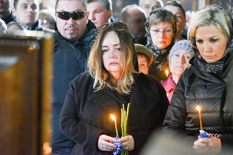 Российская оппозиционерка Ольга Курносова и вдова Дениса Вороненкова Мария Максакова
