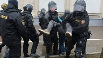 Задержания в Минске