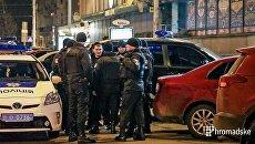 Появилось видео с места стрельбы в центре Киева. Видео