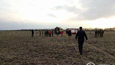 На месте крушения Ми-2 под Краматорском