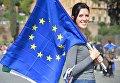 Митинг сторонников Евросоюза в Риме