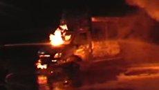 В Сумах горели несколько автобусов. Видео