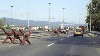 Вооруженный конфликт 1991 года в Югославии. На улицах столицы Хорватии - Загреба.