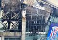 Масштабный пожар на стадионе в Шанхае