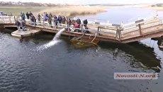 Под Николаевом на Ингуле «утонул» мост