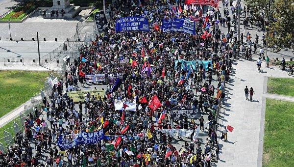 Двухмиллионный протест в Чили