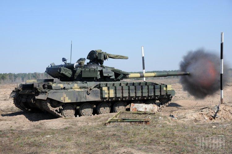 Штатные учения по стрельбе на полигоне в селе Башкировка