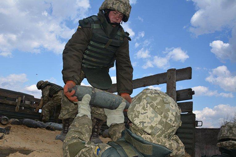 ВСУ проводит уничтожение боеприпасов в Балаклее